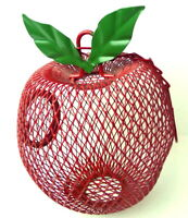 Red Apple Potpourri hanging holder vintage 1980s