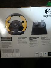 Logitech WingMan Formula GP Racing Wheel PC-USB Yellow W/Pedals