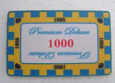 20 x 1000 Keramik Plaque Poker Casino Vegas Jetons Premium Deluxe Chips Roulette