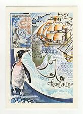 France îles Crozet tampon à date 1972 timbre sur carte maximum /B5B6