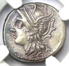 Roman C. Coelius Caldus AR Denarius Silver Coin 104 BC - Certified NGC Choice XF