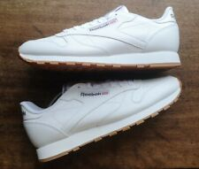 New Authentic Reebok Classic White Leather. UK9.5 Gum Sole.