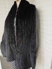 100% Real Knit Mink Fur Long Cape Stole Shawl Scarf Wrap Winter Mink Fur Collar
