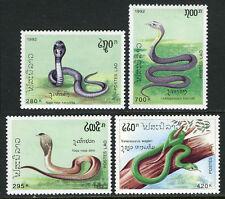 Laos 1078-1081, MNH, MI 1312-1315, MNH. Poisonous snakes, 1992