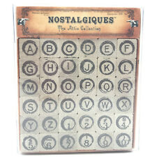 Alphabet Rubber Stamps Nostalgiques The Attic Collection Alpha Numbers Craft
