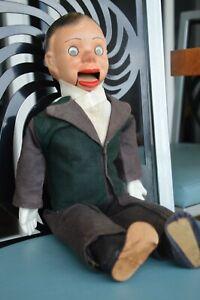 "Antique 20"" Charlie McCarthy Composition Ventriloquist Doll Plastic Google Eyes"