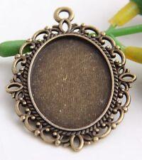 12Pcs Antique Bronze Frame Charms Pendant 24.5x33.5mm (Lead-free)