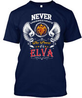 Never Underestimate Elva - The Power Of Hanes Tagless Tee T-Shirt