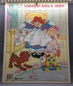 1987 Raggedy Ann & Andy Milton Bradley 25 Piece Puzzle