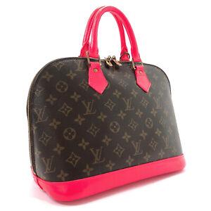 LOUIS VUITTON Handbag M51130 Alma PM Monogram Neon pink Customized(painted)LV