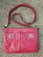 MARC by Marc Jacobs Women's Pink Leather Totally Turnlock Percy Crossbody