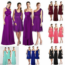 Convertible Multi Wear Bridesmaid Wedding Dress Strapy One Shoulder All in One