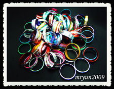 Free 100PCS Wholesale Lots Mixed Colors Aluminium Rings Mixed size Girl Gift