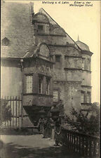 Weilburg Lahn Postkarte ~1910 Erker und Weilburger Hund Personen ungelaufen