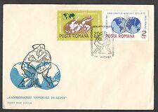 ROMANIA 1967 BUSTA PRIMO GIORNO CAMPIONATO MONDIALE LOTTA GRECO ROMANA ANNULLO
