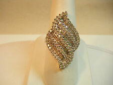 14K White Gold  2ctw Baguette and Round Diamond Ring size 9