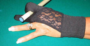 POOL & BILLIARD FASHION GLOVES FOR WOMEN .. Available in 4 Colorful Styles