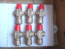 """(6 Pcs) Ford 3/4"""" Brass Curb Stop Valve,NEW"""