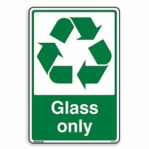 Glass Only - Recycling Sign - Self Adhesive Sticker