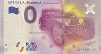 BILLET 0  EURO CITE DE L'AUTOMOBILE   FRANCE  2016 NUMERO 100