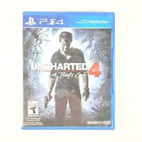 Uncharted 4: A Thief's End Sony PlayStation 4 (DVD, 2016) PS4 Nathan Drake