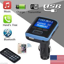 Wireless Bluetooth Fm Transmitter Modulator Car Kit Mp3 Player Usb Charger Us