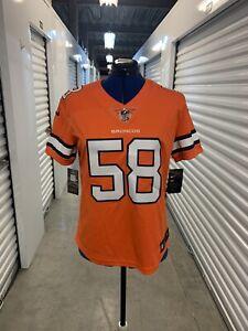 Nike Women's Denver Broncos Color Rush Limited Jersey - Von Miller #58 (Medium)