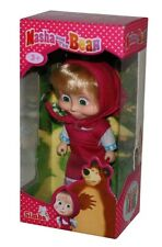 Masha and The Bear-Mascha-Puppe mit Kleid rot-12cm-neu-OVP