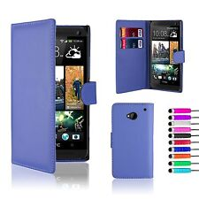 32nd Book Wallet PU Leather Case Cover for HTC One M7 Screen Protector