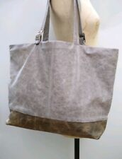 Jas M.B. London IBW Grey Leather Shoulder Bag Handbag Shopper Large Handmade