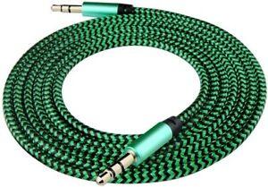 Audio Lead Car Aux Headphone MP3 iPod Mobile Jack To Jack Plug Male Cable. 0185