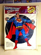 SEALED VINTAGE 1973 SUPER-FRIEND STICK-ONS OUR-WAY SUPERMAN HAWKMAN ROBIN DC
