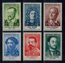 timbres de France n° 1166/1171 neufs** année 1958