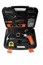 Cordless Electric Screwdriver Drill + Household DIY All-Purpose Tool Set Kit Box