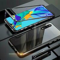 Hülle Magnet Huawei P30 Schutzhülle Glas Handy Tasche Panzer Case Cover Schale