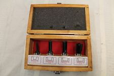 ~ Handy Toughtest 4 Piece Straight Router Bit Set in Wooden Box