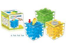 Top Cover Transparent Cube Honeycomb Maze Maze Coin Saving Jar Puzzle Money Box