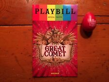 The Great Comet Of 1812 Broadway playbill (Pride) signed Josh Groban w/egg