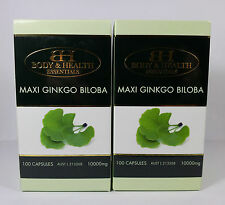Maxi Ginkgo Biloba 10000mg 100 Capsules (2 Pack) by BH - Brain & Memory Health
