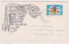 (K84-28) 1981 AU 22c Mt Morgan envelope used (tone spots) (AC)