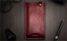 ICARER for iPhone X 7 8 S9 P20 Pouche Bag Universal Genuine Leather Pouch Case