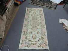 OLD OTTOMAN TURKISH SILK EMBROIDERY ISLAMIC CALLIGRAPHY TABLE RUNNER TAPESTRY