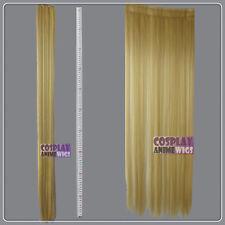 Beige Blonde Hair Weft Extention (3 pieces) - 100cm High Temp - Cosplay 8_086