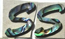 LE-CPS# 2 Capitalize S in Paua Abalone 13.5mm x 14.5mm x 1.5mm thickness