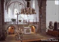 Kirche Church Stiftskirche zu VREDEN color Postkarte Innenansicht mit Altar