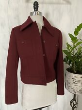 VTG Yves Saint Laurent Rive Gauche Button Down Blazer/Jacket Wine Red, EUC, 44