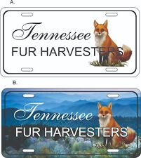 """Tennessee Fur Harvester Novelty Plate for Auto, Vehicle standard Size 6"""" x 12"""""""