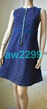 LOUIS VUITTON DENIM EMBROIDERED MINI DRESS WITH LEATHER ACCENT 38 NWT $2540