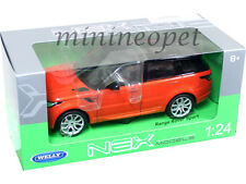 WELLY 24059 2015 15 RANGE ROVER SPORT SUV 1/24 DIECAST ORANGE with BLACK TOP