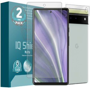 2x IQ Shield Anti-Glare Screen Protector for Google Pixel 6 with Camera Lens